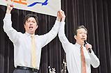安藤県議への絶大なる支援を訴える山口代表=15日 埼玉・新座市