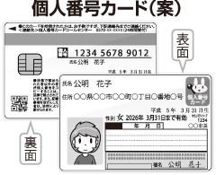 個人番号カード(案)