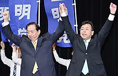 西田氏への絶大な支援を呼び掛ける太田議長=13日 埼玉・戸田市