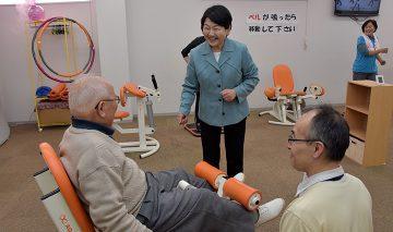 「まちかど健康空間」を視察する村田市議