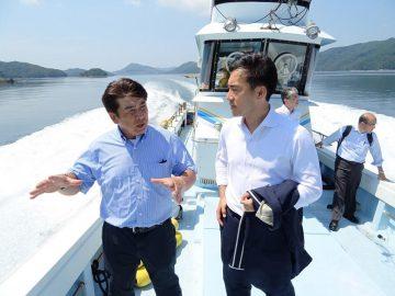 長崎漁港を視察