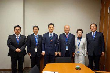 飯能商工会議所の矢島会頭、木崎専務理事が事務所に来られました。