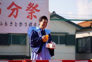 4日、入間市にて開催の節分祭に、市長や大塚衆議院議員、金澤ひでのぶ市議らと参加、皆さんの無病息災を祈り豆まきを。