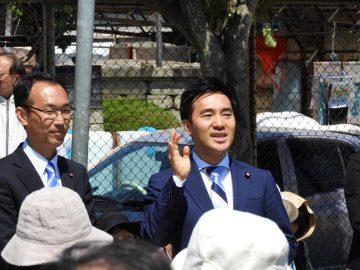 春日部市議選が告示、鈴木かずとし候補の応援に。