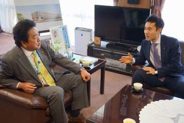 13日、深谷市を訪問、小島市長やJA、商工会議所の方々と個別にじっくり懇談しました。