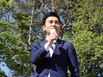 加須市長選挙、大橋りょういち候補の応援に。