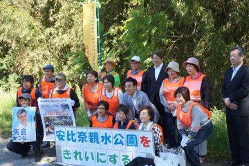 川越では、10年以上、地元の安比奈親水公園をきれいにする活動をしてくださっている党員の皆様にご挨拶できました。