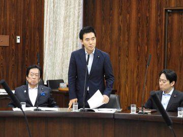 19日、経済産業委員会にて国会質問、前日(18日)発生の大阪府を中心とした地震にも言及いたしました。