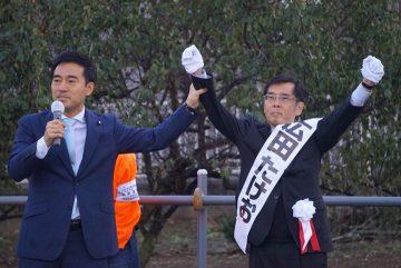 草加市議会議員選挙、広田たけお候補の応援に入りました!