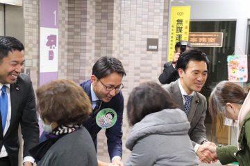 ときがわ町にて、公明党矢倉かつお国政報告会、深谷けんじさんとともに!