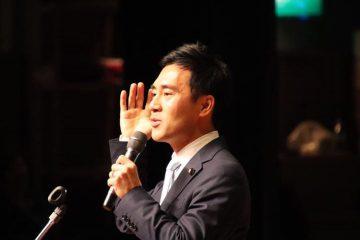 朝霞市にて、矢倉かつお国政報告会!