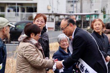 統一地方選前半戦告示、「小森谷まさる」候補の応援に入りました!!