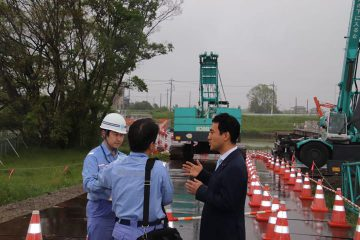 東埼玉道路の建設状況を視察
