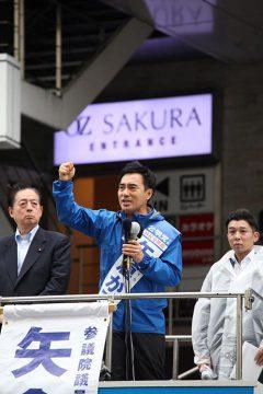 参議院選挙、昨日、いよいよ公示 大宮駅にて第一声!!