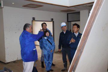 越辺川決壊箇所付近の障がい者施設を訪問