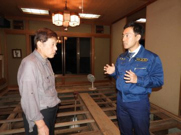 台風19号で被災された民宿を訪問