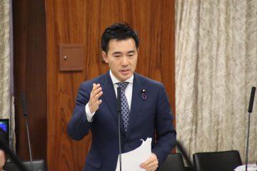 災害対策特別委員会にて質問 義援金差押禁止法の成立
