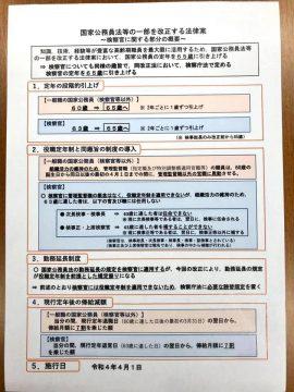 検察庁法を含む国家公務員法等の一部改正案の概要
